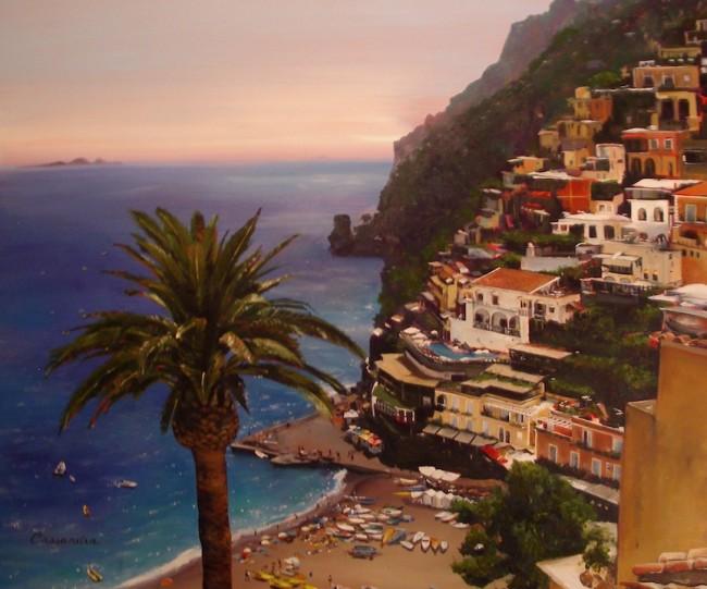 amalfi coast cassandra art paintings. Black Bedroom Furniture Sets. Home Design Ideas